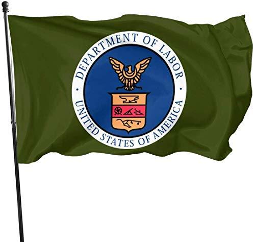 ShiHaiYunBai Flagge/Fahne, Department of Labor United States of America Outdoor Flag Home Garden Flag Banner Breeze Flag USA Flag Decorative Flag 3x5 Ft Flag