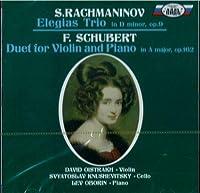 David Oistrakh, Lev Oborin, Svyatoslav Knushevitsky. Schubert / Rachmaninov. Trios