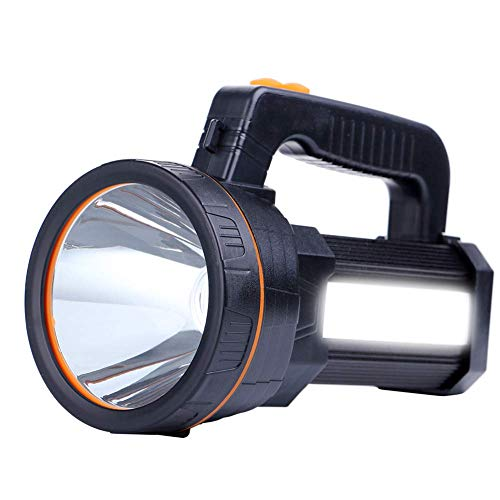 AF-WAN Torcia LED Ricaricabile 7000 Lu ,Impermeabile Luce LED Torcia 9000 mAh Super LED Luminoso Searchlight Spotlight Torcia Portatile Tattica Lampada [Classe di efficienza energetica A]