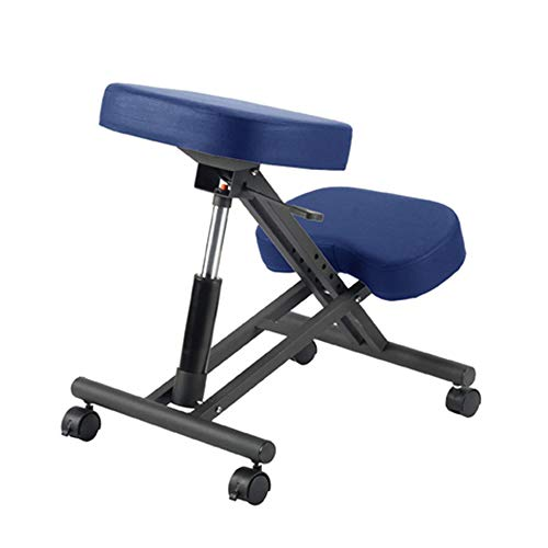 N / C Ergonomic Kneeling Chair Posture Corrective Seat, Height Adjustable/Thickened Cushion Improve Relieve Neck and Back Pain, Use in Home Office or Classroom