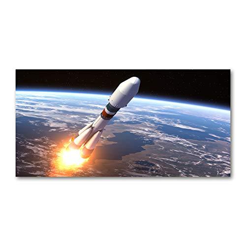 Tulup Acrylglas - 100x50cm - Bild Acrylglas Deko Wandbild Kunststoff/Acrylglas Bild - Dekorative Wand Küche & Wohnzimmer- Weltraumrakete