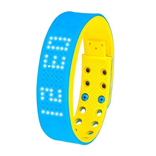 GYY Pulsera Inteligente Reloj Pedómetro Multifunción, Análisis De Sueño, Alarma Multifunción Deportiva Pulsera Inteligente (Color : BlueYellow)