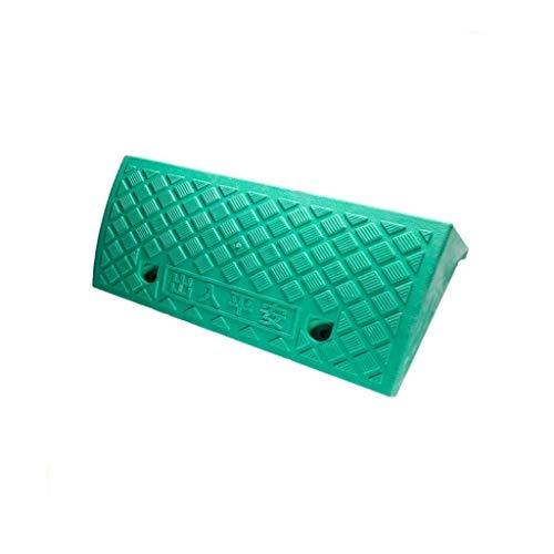 Xzg1-Ramp XUZgag - Alfombrilla de plástico antideslizante para rampas de servicio portátil, rampas de hospital para discapacitados, rampas para silla de ruedas, colegio, comunidad, paspartú seguro para cuesta arriba, plástico, Verde, 50*27*7CM