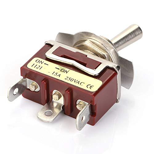 Interruptor de palanca de 5 piezas 15A 250V SPDT Interruptor de palanca ON-ON para control industrial