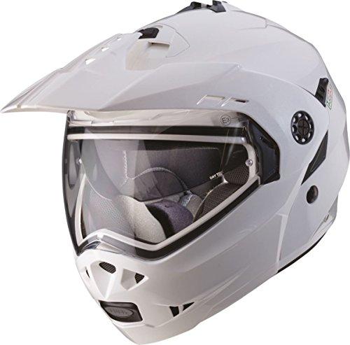 Caberg Tourmax Flip Front Adventure Helmet Metallic White Large (59-60cm)