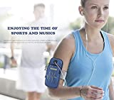 we3 Armband, iMangoo iPhone 6S Plus Sports Armband Pouch Running Armbands Gym Wrist Bag Sleeve Key Holder Card Slot Wallet Case Arm Band for iPhone Samsung Galaxy Note 8 Plus LG Moto G5 Plus (Blue) running armband for i phone Jan, 2021