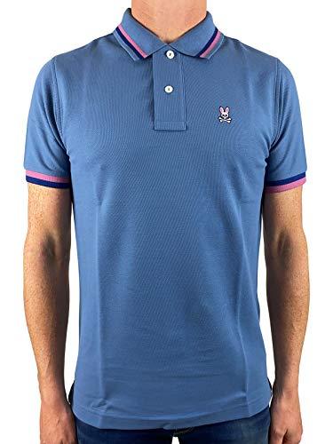 Photo of Psycho Bunny Short Sleeved Chestnut Polo Shirt in Horizon Stonewash Blue XS