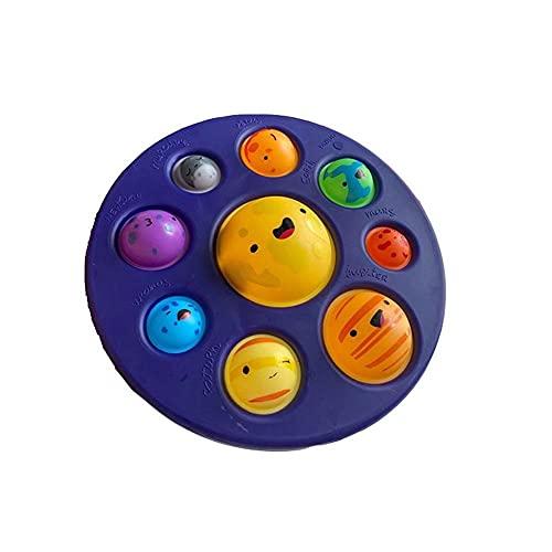 Kaikso-In Dimple Fidget Toys, Planet Series Goma Suave apretando Burbuja Pop Fidget Sensorial Juguetes para niños y Adultos, Alivio del estrés y antiansiedad