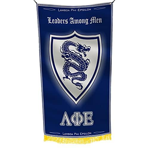 Lambda Phi Epsilon Brüderschaft Griechisches Leben lizenzierte Flagge 6х91 cm Fahne Banner Wanddekoration Außen- und Innendekoration Messing Ösen Doppelstich