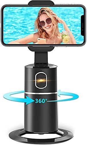 Bastoni Selfie ,Supporto Smartphone per Riprese con AI Tracciamento 360° Automatico del viso【NIENTE APP RICHIESTA】Supporti per cellulari ,Stream Live,Videochiamate per iPhone o Android