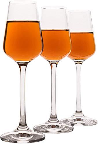 Juego de 6 vasos de cristal para licor, puerto, jerez, vino de...