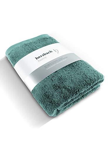 herzbach home Handtuch Duschtuch Premium Qualität aus 100% ägyptischer Baumwolle 70 x 140 cm 600 g/m² extra weich (Ozeangrün)