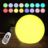 LED Orb RGB Ball Lamp with Remote, 6 Inch 16 Color Changing Glow Ball, IP68 Waterproof, Perfect as Night Lights Floating Pool Lights or for Decor Nursery Use