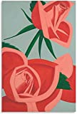 APAZSH Cuadros Decoracion Alex Katz, Pinturas de Flores, póster estético, impresión artística, Pintura de Pared, Poster en Lienzo, Regalos, Decoracion Moderna 50x70cm x1 Sin Marco