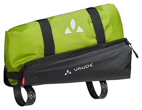 VAUDE Trailguide, Oberrohr-Packtasche für Bikepacking Sporttasche, 30 cm, 5 Liter, Black/Green