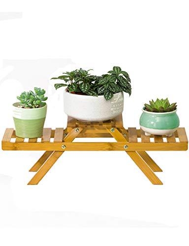 Edge to Porte-Fleurs Bambou Petite Fleur Stand Bureau Salon Plante en Pot Vert Plante De Table Cabinet Plante Cadre 52 CM * 15 CM * 16 CM