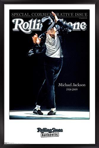 "Trends International Rolling Stone Magazine - Michael Jackson 09 Wall Poster, 22.375"" x 34"", Black Framed Version"