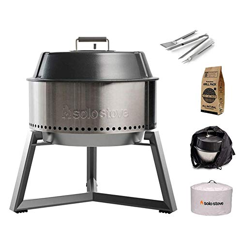 Solo Stove Grill Ultimate Bundle Portable Charcoal Grill for Outdoors Great BBQ Grill for Smoker Grill Includes BBQ Accessories and Cooking Accessories for Grilling Charcoal Grills