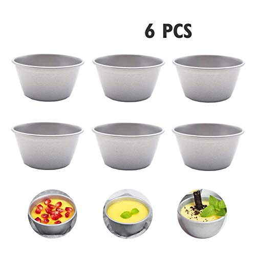 Hovome Pudding Mold Nonstick Chocolade Gesmolten Pans Pudding Cups Framboos Souffle Mold Brownies Mold Grootte 3 Inches Set van 6 Bakken Pan Bakken Beginners en Cake Lovers
