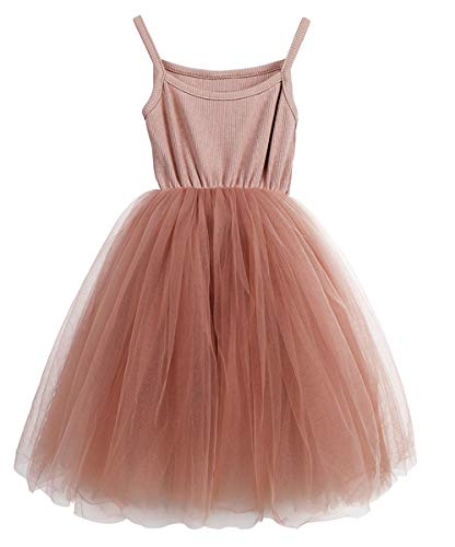 LYXIOF Baby Girls Tutu Dresses Sleeveless Princess Dress Infant Tulle Dress Toddler Sundress Pink A 12 Months