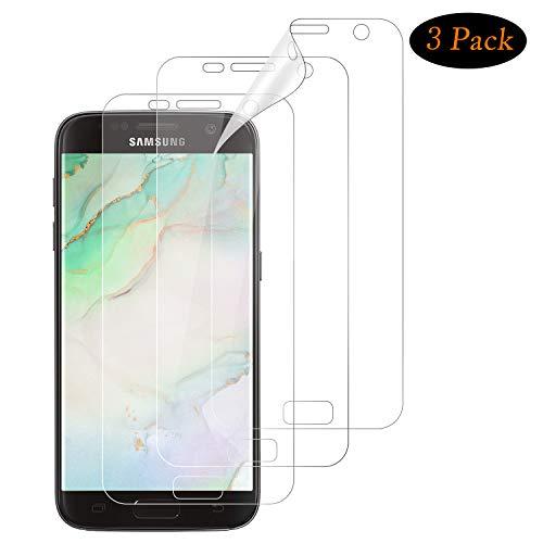 NUOCHENG Schutzfolie für Samsung Galaxy S7 [3 Stück] [Premium-Qualität] [Volle Abdeckung] [Blasenfreie] [Klar HD] Displayschutzfolie Weich TPU Folie für Samsung Galaxy S7 (Nicht Panzerglas)