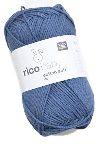 Rico Baby Cotton Soft DK Fb. 23 - Jeans, Babywolle, Baumwollmischgarn zum Stricken und Häkeln