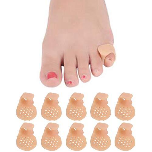 5 Pairs-Pinky Toe Cushion Splint, Gel Toe Separators, Little Toe Straightener with Loop, Pinky Toe Separators for Men Women, Prevent Blisters, Corn, Pain Relief (5 Pairs-Skin)