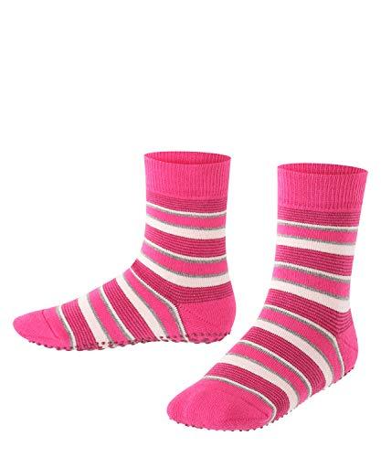FALKE Kinder Stoppersocken Mixed Stripe - 83% Baumwolle, 1 Paar, Rosa (Gloss 8550), Größe: 31-34