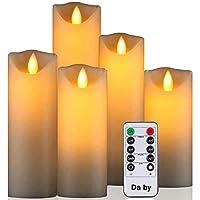 Lunga durata della batteria: la candela della batteria è alimentata da 2 batterie AA, scintillanti (senza batteria) e la batteria dura circa 300 ore (più di una candela AAA). I LED potenti e le lampadine a risparmio energetico durano fino a 50.000 or...