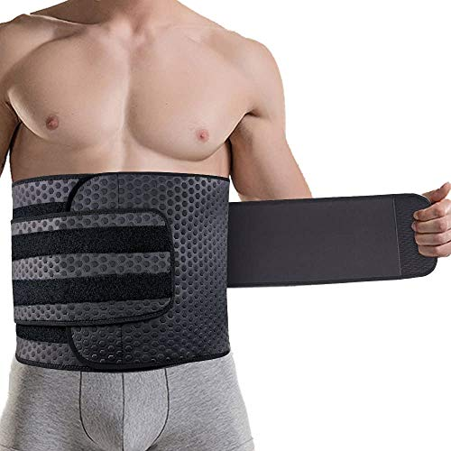 ZOHUMI Wasit Trimmer for Men, Neoprene Ab Belt Widening Waist Trainer with Double Adjusted Straps for Fitness Weight Loss and Back Support (XL 40-48inch)