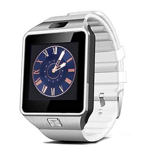wasserdichte drahtlose Smartwatch mit Kamera SIM TF-Karte Android Smartwatch Call Bracelet Watch für Android, Weiß