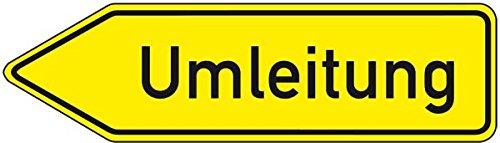 LEMAX® Verkehrszeichen Umleitung linksweisend,Nr.454-10,Aluminium RA0,refl.,1250x350mm