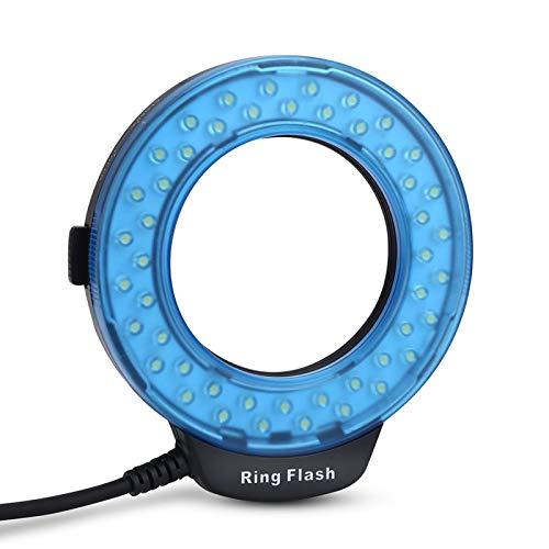 Wosune Flash LED, Anillo de luz de Flash de plástico con Adaptador de filtros de Color para Canon para Nikon para la mayoría de Las cámaras para Olympus para Panasonic para Pentax