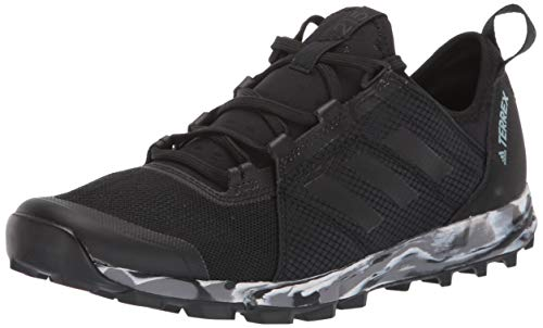 adidas outdoor Women's Terrex Speed W Running Shoe, Black/Black/ash Grey, 9 M US