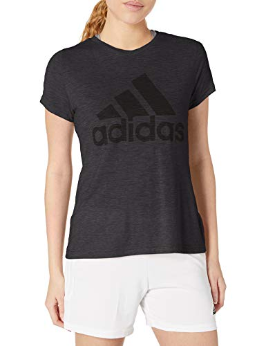 adidas Damen Must Haves Winners Tee, Damen, Hemd, W Winners Short-Sleeve Crew Tee, schwarz, Small