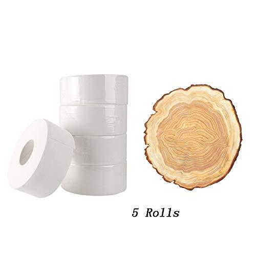 Jumbo Rollen Wc-Papier Voor Huis 4-Layer Soft Inheemse Houten Pulp Rolling Paper 5 Roll Paper Primary Wood Pulp Paper