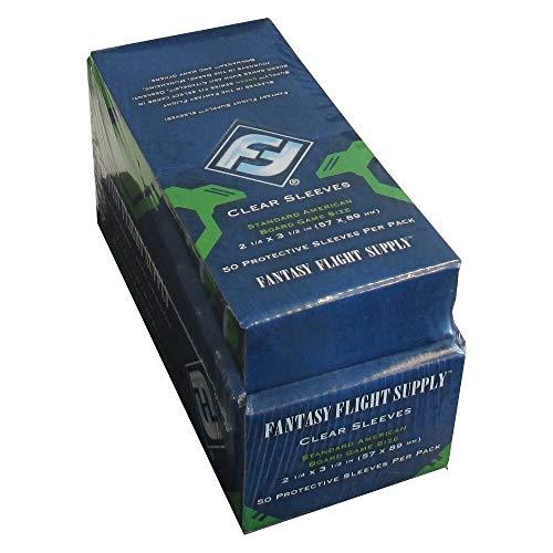 500 Fantasy Flight Games Standard American Board Game Size Sleeves - 10 Packs + Box - USA - FFS03 57 x 89