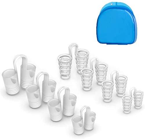 Dispositivos antirronquidos - Dilatador nasal (8 piezas) Dejar de roncar la ayuda, aliviar la apnea del sueño y ayudar a la congestión nasal, solución anti ronquidos para un sueño natural