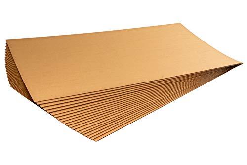 10er Bund Kartonplatte 800 x 1200 mm Zuschnitt 2-wellig Wellpappe Versandkartonage