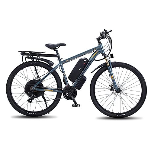 TAOCI Bici Elettriche per Adulto, Mountain Bike, Lega di magnesio Ebike Biciclette All Terray, 29 '48 V 1000 W Batteria agli Ioni di Litio Rimovibile Bicicletta per Ciclismo Outdoor Allenamento Fuori