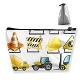 Pizeok Borsa cosmetica per Donna, Borse per Trucco da Camion Edile Borsa da Viaggio Accessori per Organizer Regali