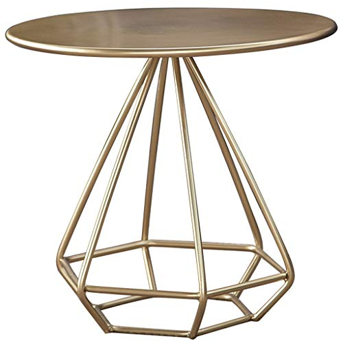 DJX Coffee Table Diamond Round Small Coffee Table Carbon Steel Sofa Table, Rustproof And Waterproof Outdoor And Indoor Snack Table, Accent Coffee Table Durable