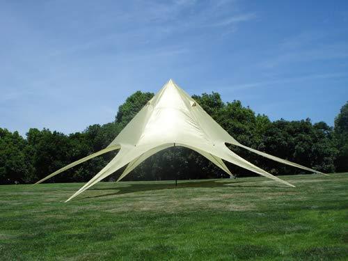 CLP Sternzelt 10 Meter I Event-Zelt Mit 10 Meter Durchmesser I Gartenzelt In Vielen Farben   Überdachte Zeltfläche Von Ca. 15 M², Farbe:Creme
