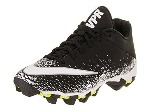 Nike Kids' Vapor Shark 2 Football Cleats, Black/White/Metallic Silver, 5 Big Kid