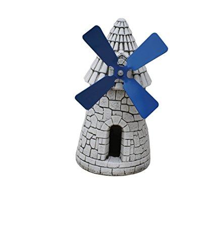 Figura Decorativa de Molino en hormigón-Piedra para el jardín Exterior 23X45cm.