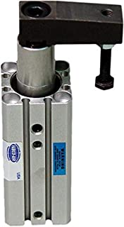 Fabco-Air SC12X10L Pneumatic Swing Clamp Cylinder, Double Acting, Counter Clockwise Rotation, 12 mm Bore, 10 mm Straight Stroke