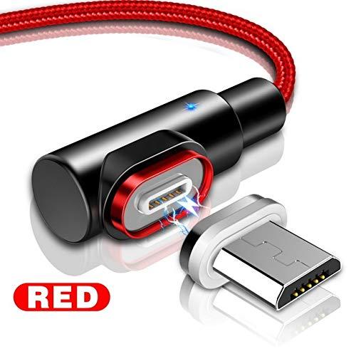 i-Tronixs - Cavo di Ricarica USB per ASUS Transformer Pad TF303CL (Rosso), 2 Metri, ad Angolo retto, 90 Gradi [Forma a L]