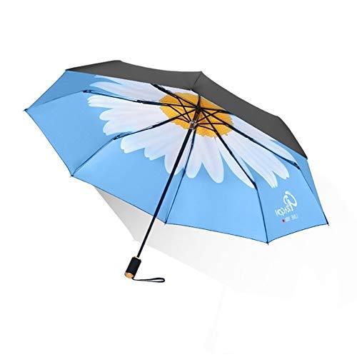 JIAJBG Pocket Uv Petal Manual Umbrella Resistente a Prueba de Viento Protección de Solo Problera Problera de Lluma Y Sun Parasol Automático Um49-Automático-Rosa Pintura de secado rá