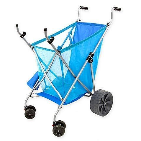 Seina All-Terrain Beach Cart Wheeler with Big Wheels for Sand | All Terrain Cart, Wide Wheels, Cart...
