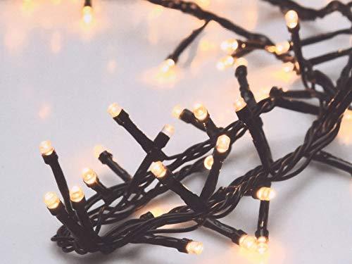 LED-Clusterlichterkette, 700 LEDs, warmweiß, 230V, IP44, 17m, Timer